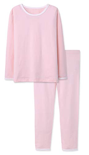 Baby Girls Pink Pajamas Plain Princess Warm Tights Set Children's Long-Sleeved T-Shirt 2 Years Old