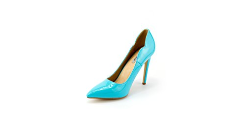 Stiletto Sommer Party Blau Damen High pastell Hochzeit Pumps Pastell Madlchen Heel FqP6wfx