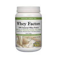 Natural Factors Whey Factors, thé vert matcha, 12-Ounce