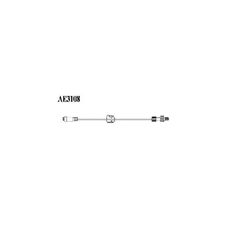 AMSINO AE3108 AMSafe Standard Bore Tubing IV Extension Set, Sterile, Needle-Free Connector, 8