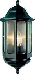 ASD Half Lantern Polycarbonate 60W BC Black GREAVES&CO ASDHL60B