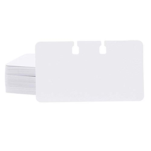 Paper Junkie 200-Pack Blank Notched Rotary File Card Refills, (Rotary Holder and Dividers Not Included), 2 1/4 x 4 Inches