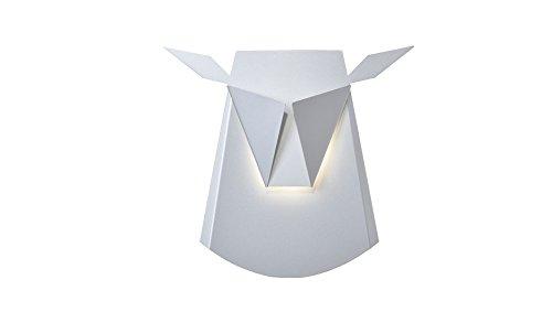 Popup Lighting Elegant Aluminum Wall LED Light Deer Head Fixture Electricity Plug in Silver