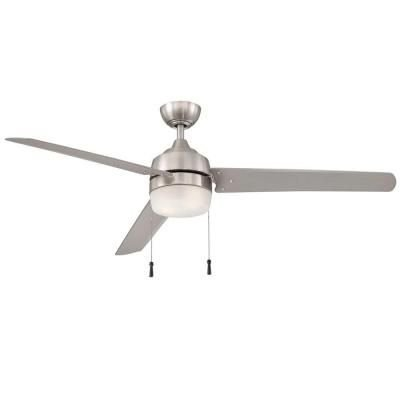 Hampton Bay Carrington 3-Bladed 60-Inch Ceiling Fan, Brushed Nickel