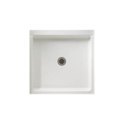 (Rectangular Single Threshold Shower Base Finish: White, Size: 34