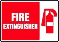 7 x 10 Inches MFXG423XL AccuformFire Extinguisher Safety Sign Aluma-Lite