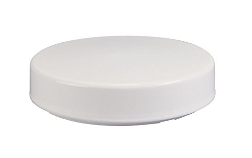 """Solo Lights White Drum Acrylic Cover, Replacement Light Fixture Lens, 11"""""""