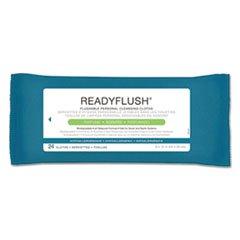 Medline ReadyFlush Biodegradable Flushable Wipes, 8 x 12, 24/Pack, 24 Pack/Carton