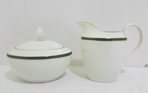 (Royal Daulton China OXFORD GREEN Sugarbowl with Lid(s) EXCELLENT)