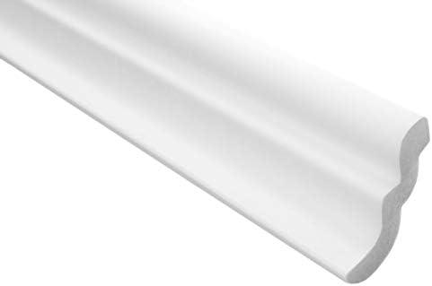 Zierleisten Sparpaket E-7   leicht und stabil   extrudiertes Styropor   Stuckprofile   Decken-/ und Wandübergang   modern weiß   dekorativ   XPS   46 x 50 mm   10 Meter