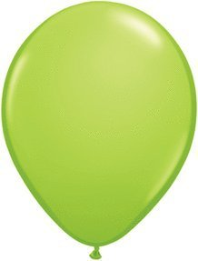 5 Lime verde Balloons (100 ct) by Mayflower Products