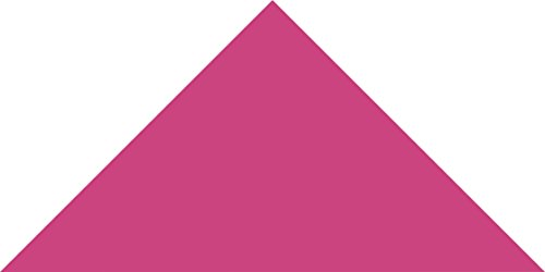 Hot Pink Small Triangle Wall Pattern - Set of 20 - Pattern Vinyl Wall Art Decal for Homes, Offices, Kids Rooms, Nurseries, Schools, High Schools, Colleges, Universities by Dana Decals (Image #1)