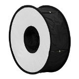 Ringbox Flash Softbox from Fotodiox - Quick Collapsing 45cm Round Flash Diffusion Adapter for Canon, Nikon Flashes etc.