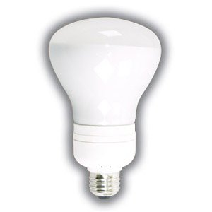 FULL SPECTRUM COMPACT FLUORESCENT FLOODLIGHT 15 WATTS BR30 CFL ENERGY STAR 5000K REPLACES INCANDESCENT BULBS