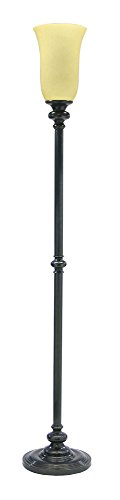 - House Of Troy N600-OB-O Newport Collection Portable Floor Lamp, Oil Rubbed Bronze with Opal Glass Shade
