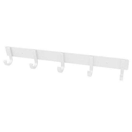 14.5 Largo montaje en pared de aluminio 5 Perchas de gancho para ropa Bolsa  Toalla dd6ba9bb00d