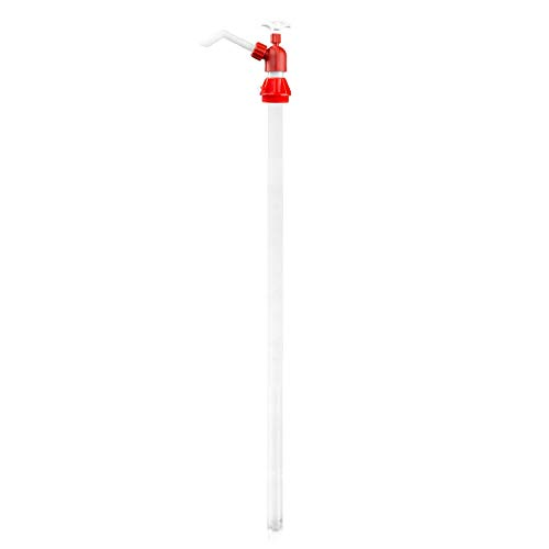1PK Chemical Resistant Drum Pump 14oz per Stroke for Lacquer Thinners, Acetone, Antifreeze, DEF, Weed Killer, MEK, etc.