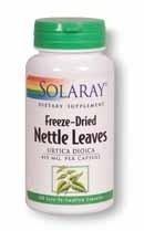 Solaray Freeze-Dried Nettle Leaf Capsules, 300 mg, 100 Count (Freeze Leaf Dried Nettle)