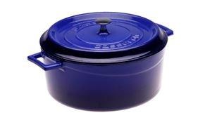 Arcata, Round Casserole Dish, 7. 50 qt, Blue, Cast Iron, each by Arcata