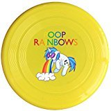 Bean Bag Chairs San Diego - AOLM Rainbow I Poop Rainbows Outdoor Game Frisbee Sport Disc Yellow
