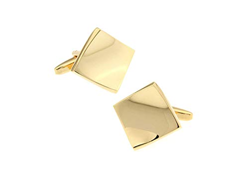 EoCot Cufflinks for Men's Shirt Copper Gold Geometric Cufflinks Wedding Jewelry Gift
