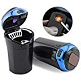 Big Ant Car Ashtray Detachable Car Cigarette Lighter Smokeless Ashtray with USB Charge, Blue LED Light Indicator for…
