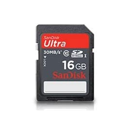 SanDisk Ultra SDHC Class 10 Flash Memory Card 30MB/s 149 8GB Data Storage Capacity Class 10 - UHS-1 Max. Read Speed: 30MB/s