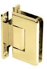 C.R. LAURENCE C0L337BR CRL Brass Cologne 337 Series Adjustable Wall Mount Full Back Plate Hinge