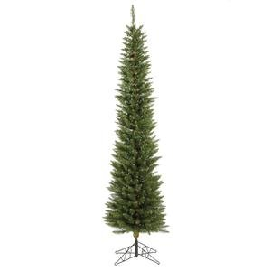 Vickerman Durham Pole Christmas Tree, 5.5-Feet, Pine Green