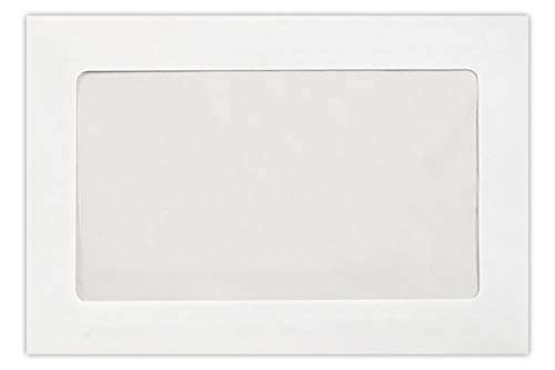 LUX Paper Square Invitation Envelopes for 5 1/4 x 5 1/4 Cards in 70 lb. Bright White, Printable Envelopes for Invitations, with Peel & Press Seal, 50 Pack, Envelope Size 5 1/2 x 5 1/2 (White)