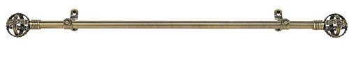 Achim Importing RDMCMAB666 Metallo Decorative Rod And Finial Cosmo44; 66 x 120 in. from Achim Importing