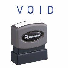 Blue One-Color Title Stamp Pre-Inked Void R Xstamper
