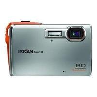 Intova Sport 8 Waterproof Point & Shoot Digital Camera - Silver - 8 Megapixel - 3x Optical Zoom - 4x Digital Zoom - 2.5