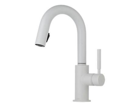 Brizo 63920LF-MW Solna Single Handle Pull-Down Bar/Prep Faucet, Matte - Prep Brizo Faucet