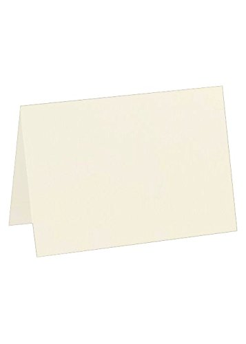 Cards Casual Correspondence (A7 Folded Card (5 1/8 x 7) - Natural Linen (50 Qty) | Perfect for Personal Stationery, Invitation Suite Inserts & Casual Correspondence! | 5040-NLI-50)