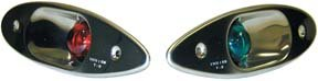 T-H Marine Supply Shark Eye Recessed Boat Navigation Light Set, Pair SEL-1-DP