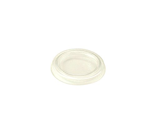 World-Centric-100-Compostable-Corn-PLA-Lid-Flat-No-Hole-Fits-2-Ounce-Souffle-Cups-3-Ounce-Clear-Cups-Case-of-2000