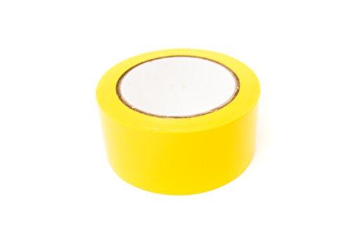 Bertech Aisle Marking Tape, Yellow, 2 Wide x 36 yd.