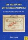 Die deutschen Aktiengesellschaften in der Euregio Maas-Rhein seit 1820