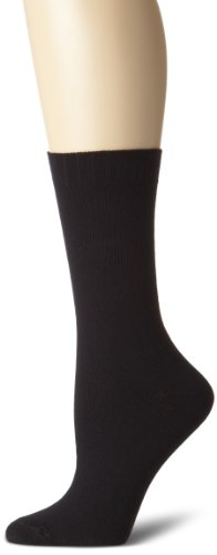 Hue Women's Loafer Socks (3-Pack), Black, One Size