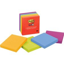 Post-it Notes Super Sticky Pads in Electric Glow -