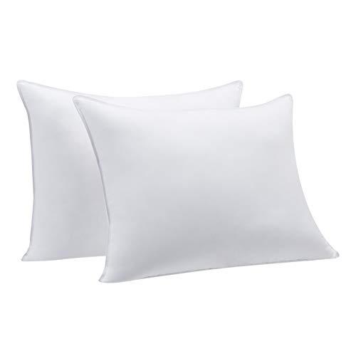 Amazon Basics Down Alternative Bed Pillows – Medium Density, Standard, 2-Pack