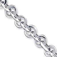 "Argent Sterling 7,75 ""Toggle JewelryWeb Bracelet Fantaisie"