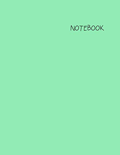 Notebook: Lined/Ruled Notebook with Aqua Cover and White Paper: Large 8.5 x 11 inches (100 Pages)