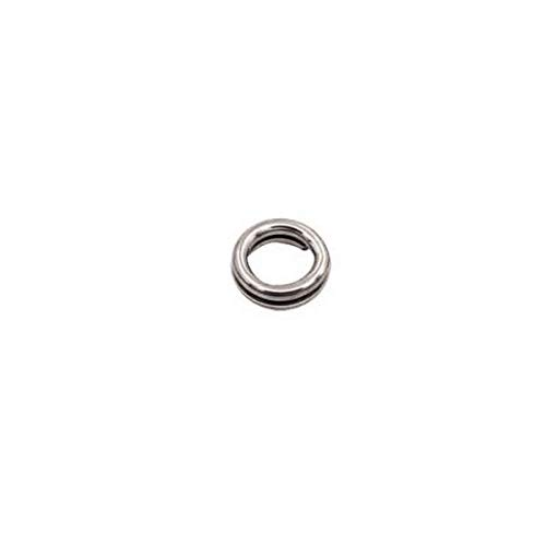 Mustad Ultra Ss Split Ring Fishing Terminal Tackle (8 Pack), Multicolor, Size 6 ()