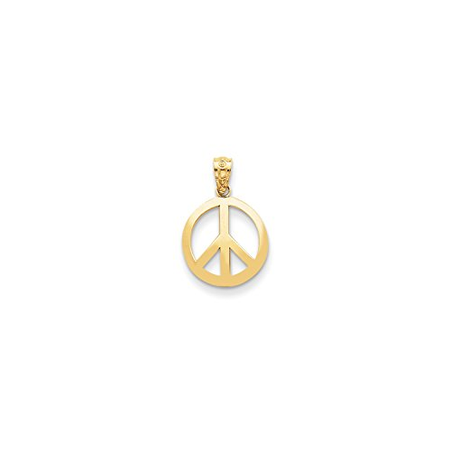 Gold Peace Sign Necklace - 7