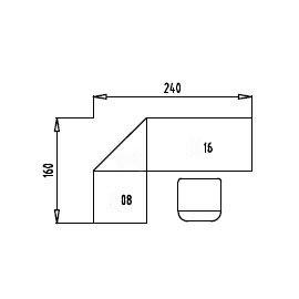 Tischsystem Ergonomic Serie B »Set 6R« Rollcontainer 160x240cm Eckplatte Buche