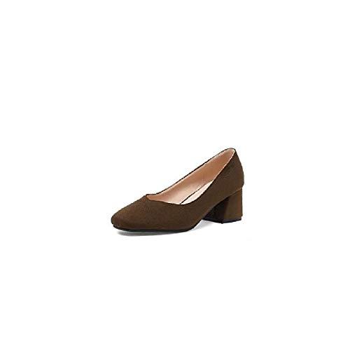ZHZNVX Zapatos de Mujer Suede Spring & Summer Comfort Heels Chunky Heel Beige/Verde / Rosa Green