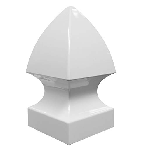 Freedom (Fits Common Post Measurement: 5-in; Actual: 5-in x 5-in) White Vinyl Fence Post Top