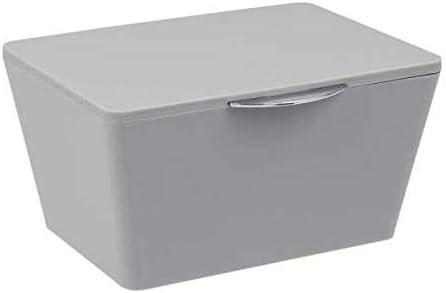 WENKO Aufbewahrungskorb Chromo Grau Füllkörbchen Wäschebox Ablage spielzeugbox